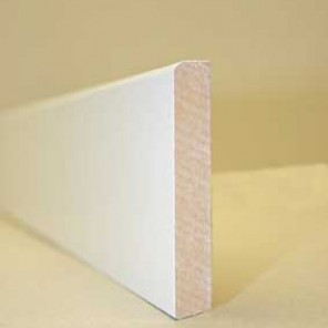 Lot de 5 plinthes blanche 70 mm