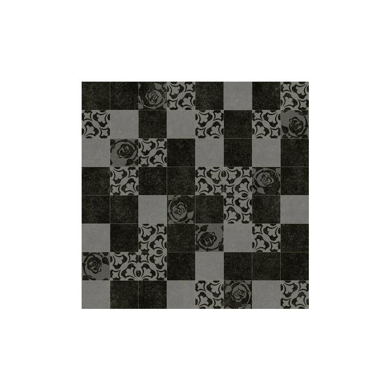 Lino imitation carrelage noir for Carrelage imitation parquet noir