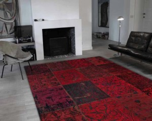 tapis vintage rouge le blog du sol. Black Bedroom Furniture Sets. Home Design Ideas