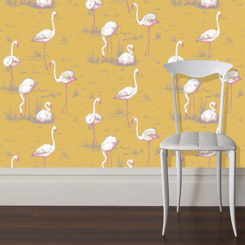 Tendance jungle twist le blog du sol - Papier peint flamant rose ...