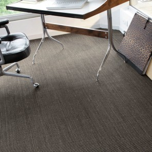 Sisal Cancun bicolore noir/taupe
