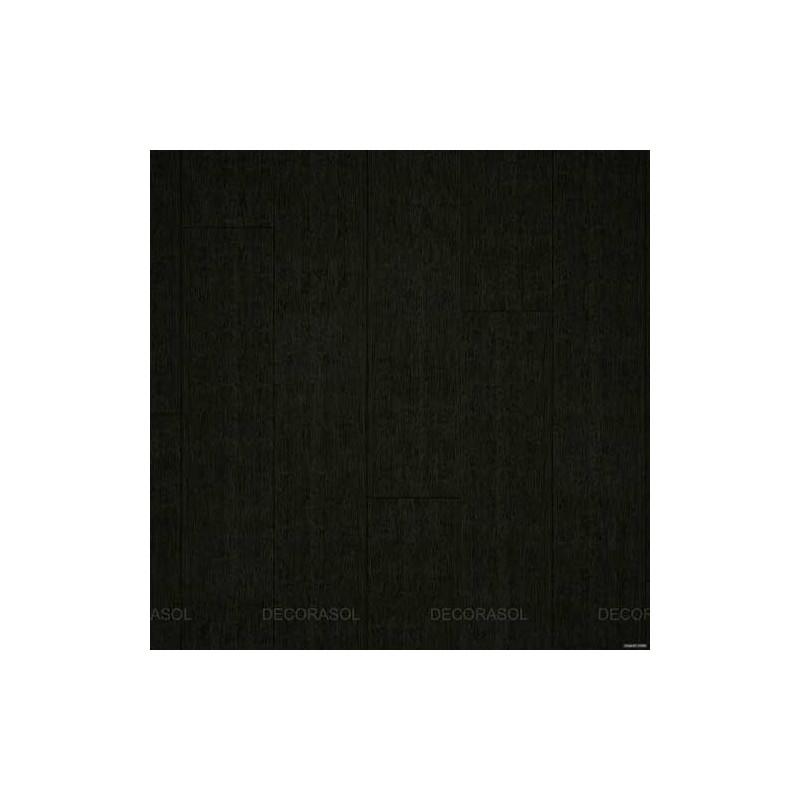 Parquet Massif Bambou - Brossé - Noir - Compatible Pièces Humides - larg. 13 cm
