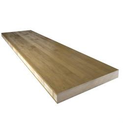 Echantillon Plan de travail bambou coffee brut horizontal