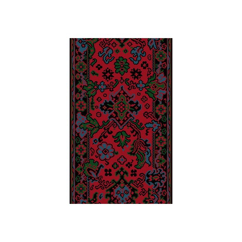 Moquette passage d'escalier - Smyrne Floral Rouge
