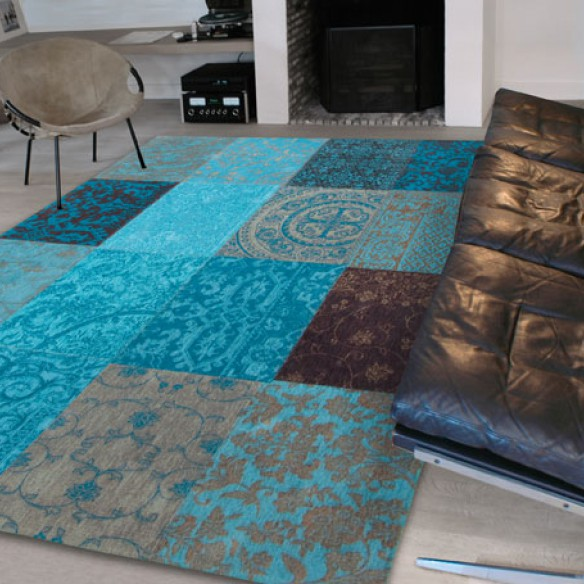 Tapis Patchwork Turquoise