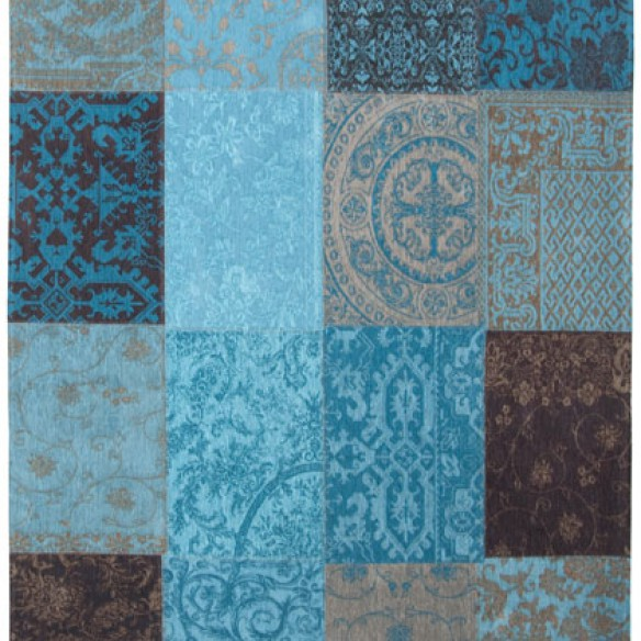 tapis patchwork turquoise decorasol. Black Bedroom Furniture Sets. Home Design Ideas