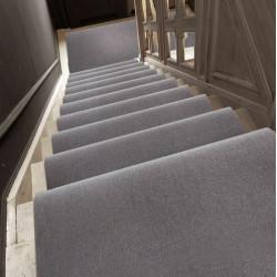 Moquette passage d'escalier - Uni Gris Perle