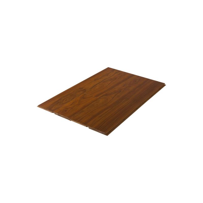 Parquet Massif Bambou - Verni Mat - Impression Teck - Clipsable - Compatible Pièces Humides - larg. 13 cm