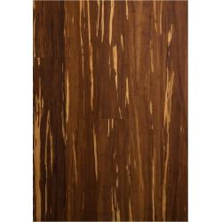 Parquet Contrecollé - Bambou - Haute Pression - Flammé - Carbonisé et Verni Mat - larg. 12,5 cm
