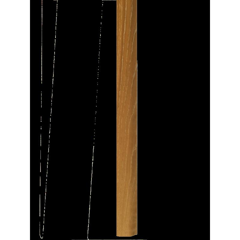 """Barre """"3 en 1"""" placage Chêne Cérusé : seuil- jonction et arrêt - Long.930 mm"""