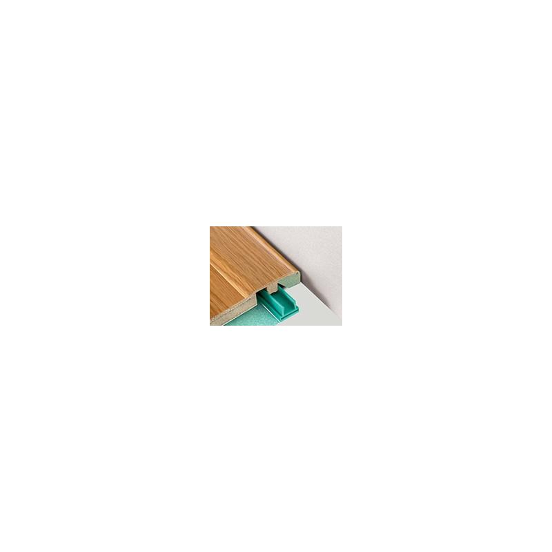 """Barre """"3 en 1"""" placage Chêne Cérusé: seuil- jonction et arrêt - Long.2 150 mm"""