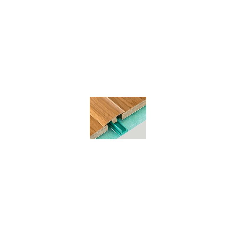 """Barre """"3 en 1"""" placage Chêne Cérusé : seuil- jonction et arrêt- Long. 2 150 mm"""