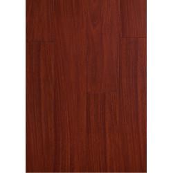 Parquet Massif Bambou - Verni Mat - Impression Mahogany - Compatible Pièces Humides - larg. 13,9 cm