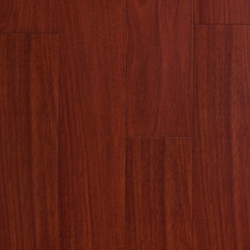 Parquet Massif Bambou - Verni Mat - Impression Mahogany - Clipsable - Compatible Pièces Humides - larg. 13 cm