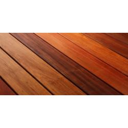 Lames terrasse Ipé supérieur -à clipser - larg .14,5 cm