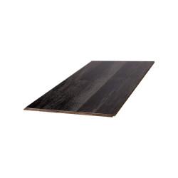 Parquet Massif Bambou Haute Pression - Verni Mat - Black & White - Clipsable - Compatible Pièces Humides - larg. 12,5 cm