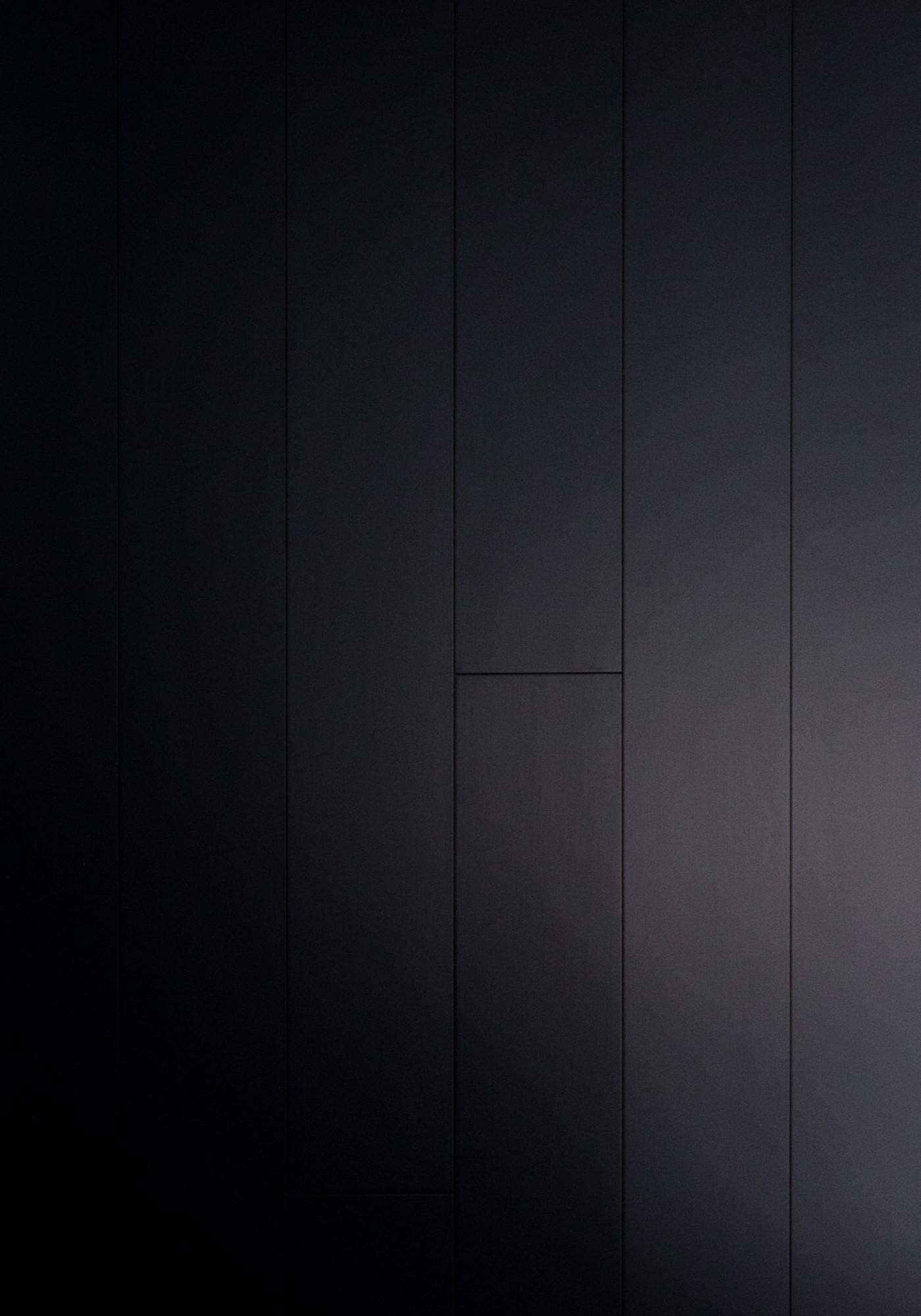 Stratifié Compressé Salle De Bain parquet massif bambou haute pression - noir - compatible