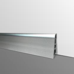 Plinthe PVC- Décor Aluminium- Ep.14 x H.60 mm- L.2,5m