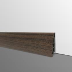 Plinthe PVC- Décor Chêne Foncé - Ep.14 x H.60 mm- L.2,5m
