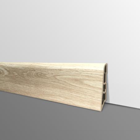 Plinthe PVC- Décor Chêne Clair - Ep.14 x H.60 mm- L.2,5m