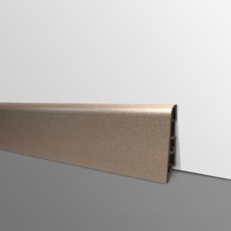 Plinthe PVC- Décor Chocolat - Ep.14 x H.60 mm- L.2,5m