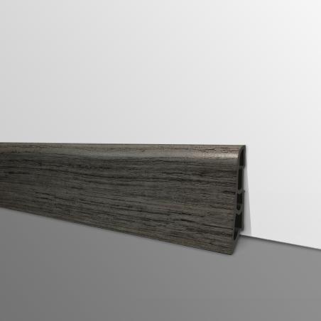 Plinthe PVC- Décor Chêne Craquelé - Ep.14 x H.60 mm- L.2,5m