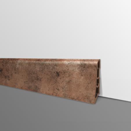 Plinthe PVC- Décor Cuivre - Ep.14 x H.60 mm- L.2,5m