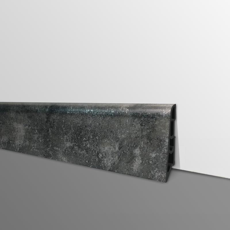 Plinthe PVC- Décor Carbon - Ep.14 x H.60 mm- L.2,5m
