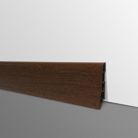 Plinthe PVC- Décor Chêne Ébène- Ep.14 x H.60 mm- L.2,5m