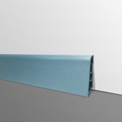 Plinthe PVC- Décor Bleu Gris - Ep.14 x H.60 mm- L.2,5m