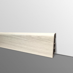 Plinthe PVC- Décor Chêne Blanc Casse - Ep.14 x H.60 mm- L.2,5m