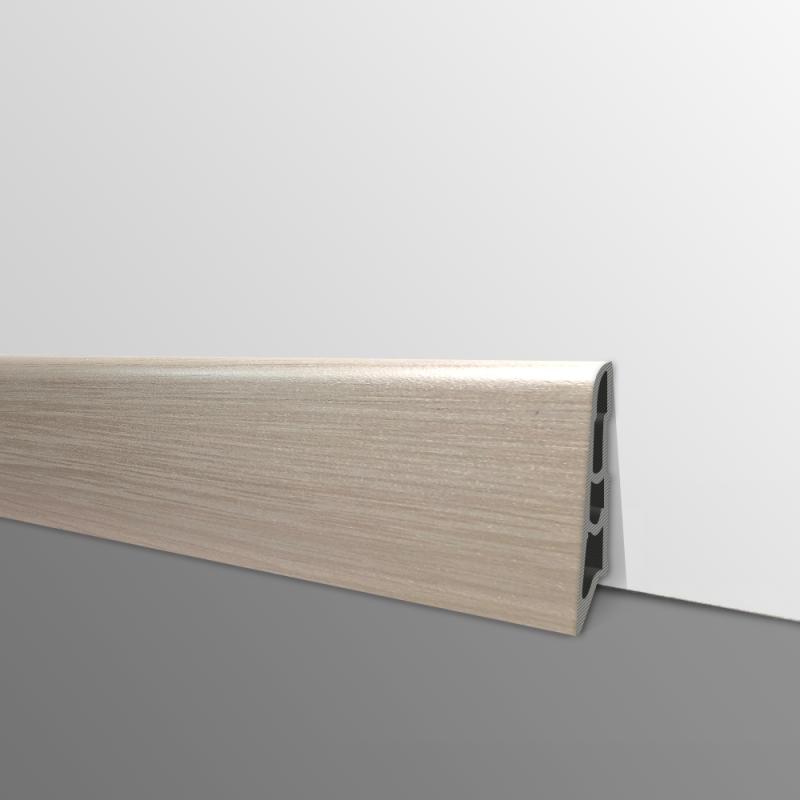 Plinthe PVC- Décor Tabac - Ep.14 x H.60 mm- L.2,5m