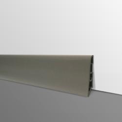 Plinthe PVC- Décor Taupe Foncé - Ep.14 x H.60 mm- L.2,5m