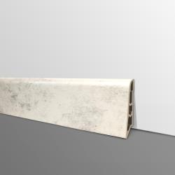 Plinthe PVC- Décor Ciment Clair - Ep.14 x H.60 mm- L.2,5m