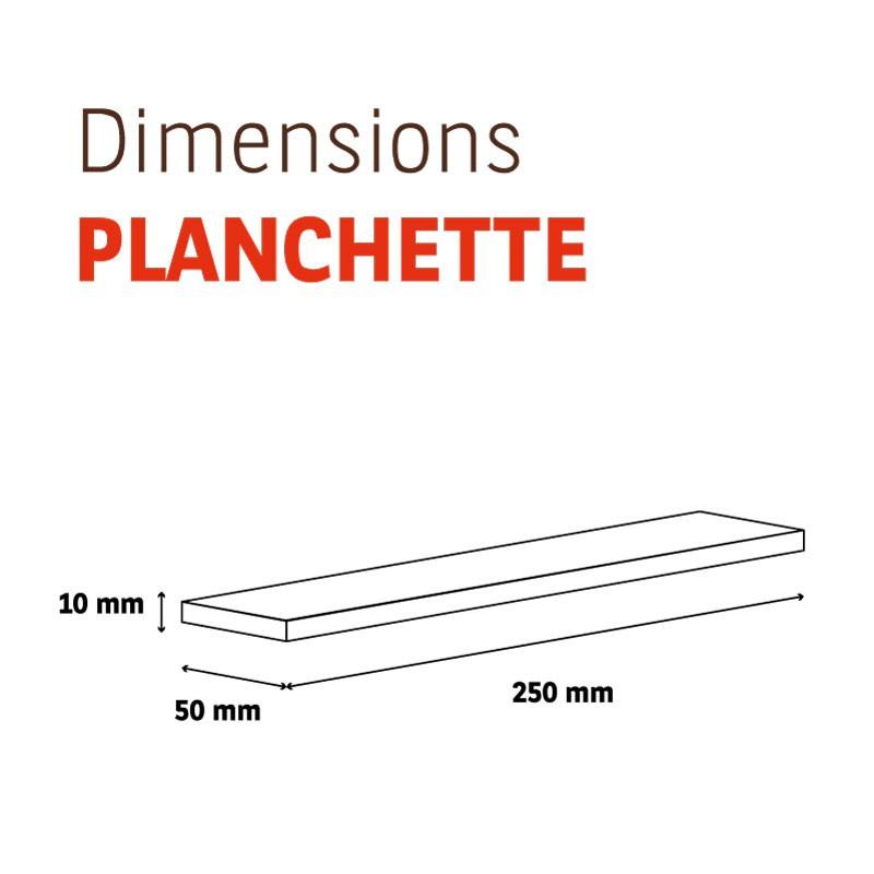 Planchette Chêne brut Grade C 50x250