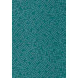 Dalle Moquette Palma Turquoise Imperméable et Grand Passage