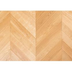 Point de Hongrie en chêne- Verni brossé- larg. 9 cm