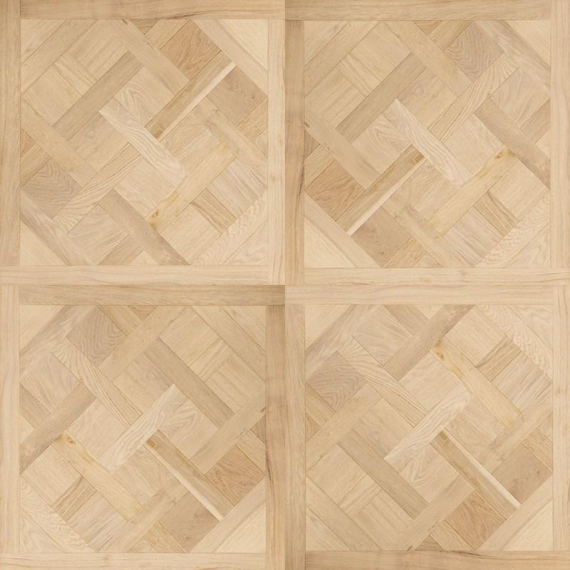 Dalle Marqueterie motif Versailles vernis mat aspect bois brut