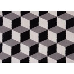 Moquette en Laine à motif carré 3D grise