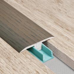 Barre de seuil 3 en 1 pour parquet -Placage Chêne Paris- Larg. 53.7 mm x Long.93 cm