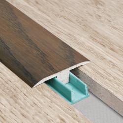 Barre de seuil 3 en 1 pour parquet -Placage Chêne Macadamia- Larg. 53.7 mm x Long.93 cm