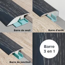 Barre de seuil 3 en 1 pour parquet -Placage Chêne Candlenut- Larg. 53.7 mm x Long.93 cm