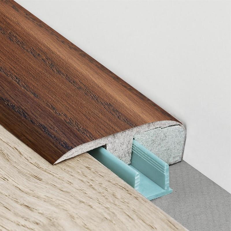 Barre de seuil 3 en 1 pour parquet -Placage teinte Savane - Larg. 53.7 mm x Long.93 cm