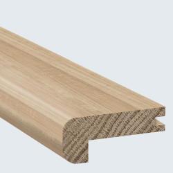 Nez de marche pour parquet - Chêne massif brut - Long. 200 cm