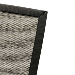 Tapis sur mesure Pavillon Design Noir - Finition Gansé