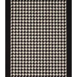 Moquette passage d'escalier - Motif pied de poule noir et blanc
