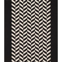 Moquette passage d'escalier - Motif chevron noir et blanc