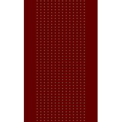 Moquette passage d'escalier - Coloris rouge à points beige