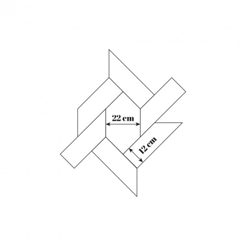 Parquet chêne à motif hexagonal