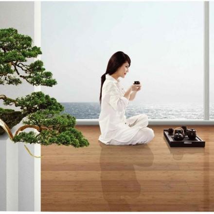 Un parquet en bambou massif pour une ambiance Feng-Shui